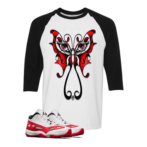 Air Jordan 11 Low IE White And Black Baseball T (BUTTERFLY)