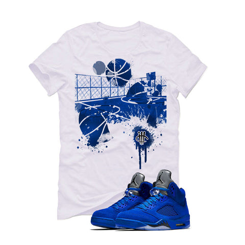 Air Jordan 5 Blue Suede White T (B COURT)