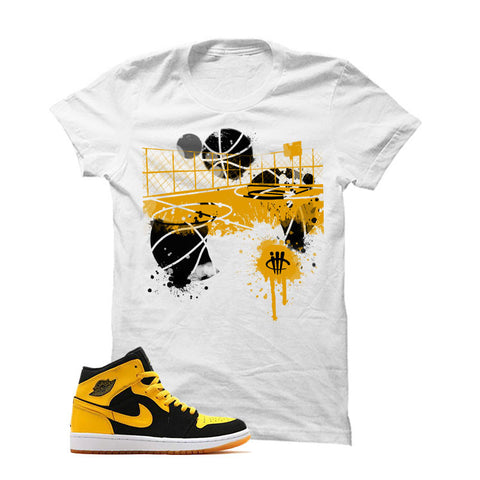 Jordan 1 Mid New Love Black T Shirt (Watch My Feet)