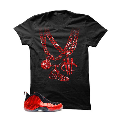 Nike Air Foamposite One Metallic Red Black T (Chain)