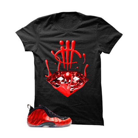 Nike Air Foamposite One Metallic Red Black T (Diamond Drip)