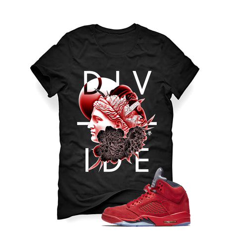Air Jordan 5 University Red Black T (Divide)