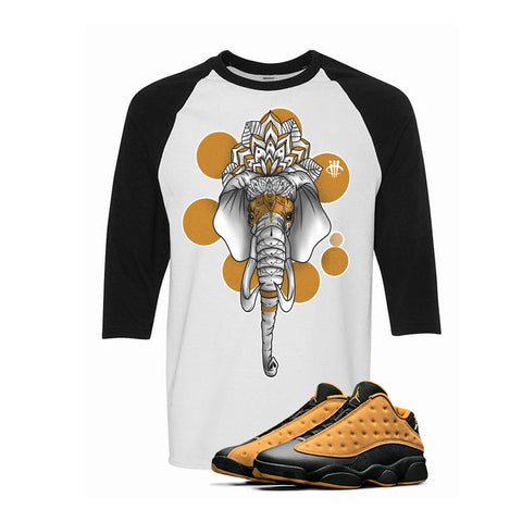 Air Jordan 13 Low Chutney White & Black Baseball T (Elephant)