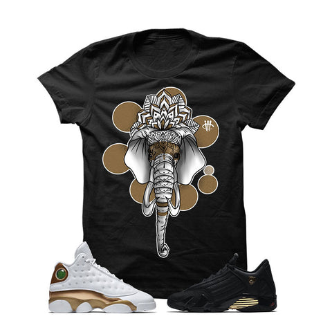 Jordan 13/14 Defining Moments Pack Black T Shirt (ELEPHANT MANDALA)