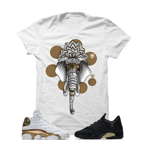 Jordan 13/14 Defining Moments Pack White T Shirt (ELEPHANT MANDALA)