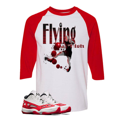 Air Jordan 11 Low IE White And Red Baseball T (FLYING HIGH)