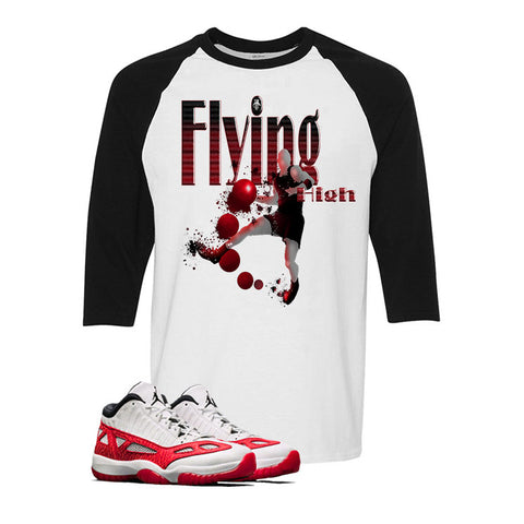 Air Jordan 11 Low IE White And Black Baseball T (FLYING HIGH)