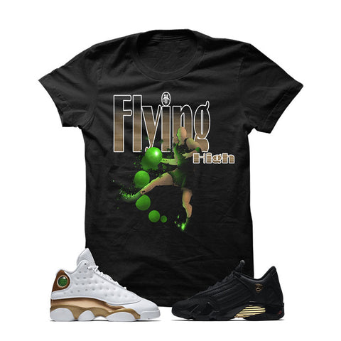 Jordan 13/14 Defining Moments Pack Black T Shirt (FLYING HIGH)