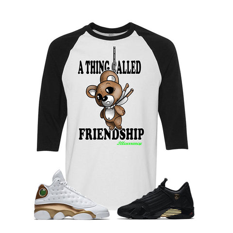 Jordan 13/14 Defining moments pack White And Black Baseball T's (FRIENDSHIP)