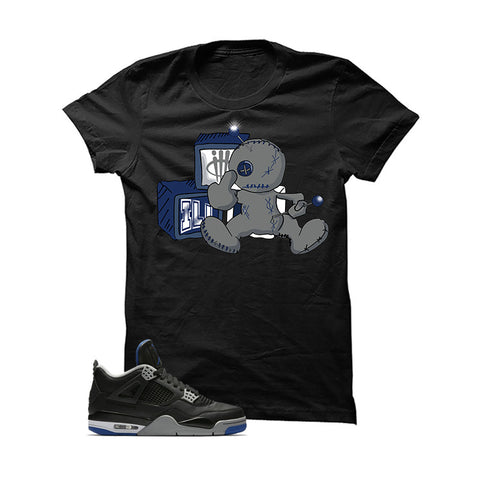 Jordan 4 Game Royal Black T Shirt (Fck You)