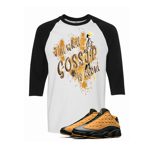 Air Jordan 13 Low Chutney White & Black Baseball T (Gossip)