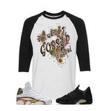 Jordan 13/14 Defining moments pack White And Black Baseball T's (GOSSIP)