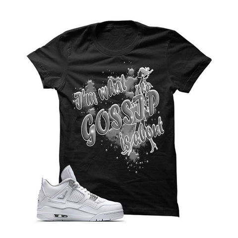 Jordan 4 Pure Money White T Shirt (Cream)