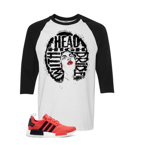 Adidas NMD R1 Red/Black White And Black Baseball T's (Head high)