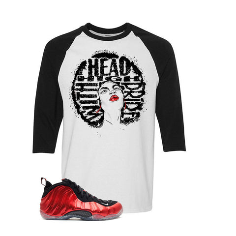 Nike Air Foamposite One Metallic Red White And Black Baseball T's (Head High)