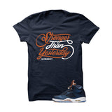 Jordan 5 Bronze Navy Blue T Shirt (Stronger) - illCurrency Matching T-shirts For Sneakers and Sneaker Release Date News