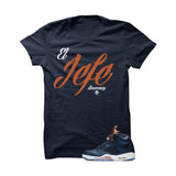 Jordan 5 Bronze Navy Blue T Shirt (El Jefe) - illCurrency Matching T-shirts For Sneakers and Sneaker Release Date News