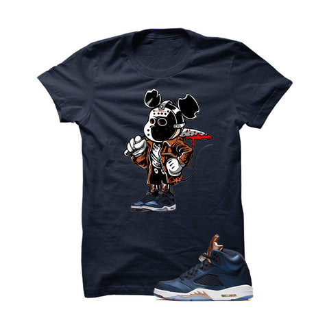 Jordan 5 Bronze Navy Blue T Shirt (Stronger)