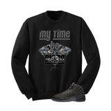 Jordan 12 Wool Black T Shirt (My Time To Shine) - illCurrency Matching T-shirts For Sneakers and Sneaker Release Date News - 3