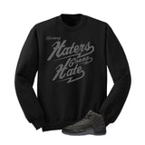 Jordan 12 Wool Black T Shirt (Haters Gonna Hate)