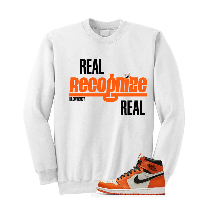Jordan 1 Reversed Shattered Backboard White T Shirt (Real Recognized Real) - illCurrency Matching T-shirts For Sneakers and Sneaker Release Date News - 3