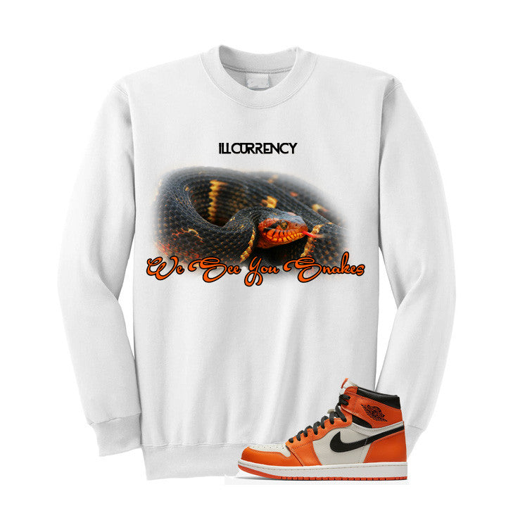 Jordan 1 Reversed Shattered Backboard White T Shirt (We See You Snakes)