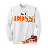 Jordan 1 Reversed Shattered Backboard White T Shirt (I'm A Boss)