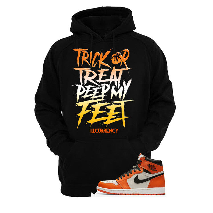 Jordan 1 Reversed Shattered Backboard Black T Shirt (Trick Or Treat) - illCurrency Matching T-shirts For Sneakers and Sneaker Release Date News - 3