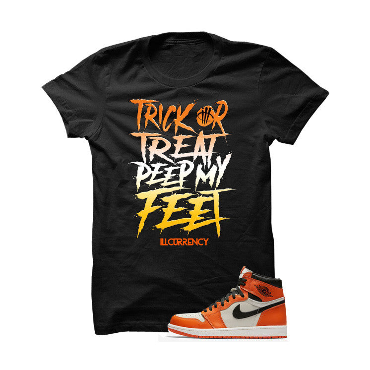 Jordan 1 Reversed Shattered Backboard Black T Shirt (Trick Or Treat) - illCurrency Matching T-shirts For Sneakers and Sneaker Release Date News - 1