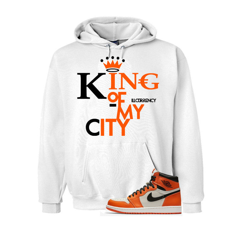 Jordan 1 Reversed Shattered Backboard White T Shirt (King Of My City) - illCurrency Matching T-shirts For Sneakers and Sneaker Release Date News - 2