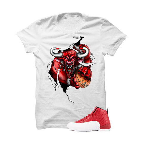 Jordan 12 Gym Red White T Shirt (Trap Star)
