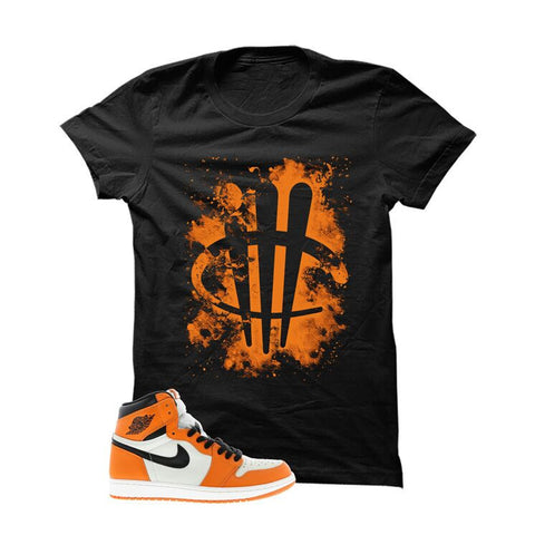 Jordan 1 Reversed Shattered Backboard Black T Shirt (Tigger)