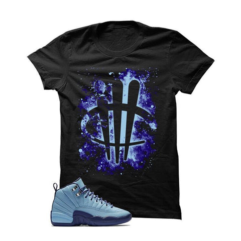 Jordan 12 Gs Dark Purple Dust Black T Shirt (Vamp Lips)