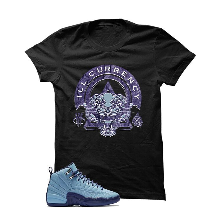 Jordan 12 Gs Dark Purple Dust Black T Shirt (Tigger) - illCurrency Matching T-shirts For Sneakers and Sneaker Release Date News