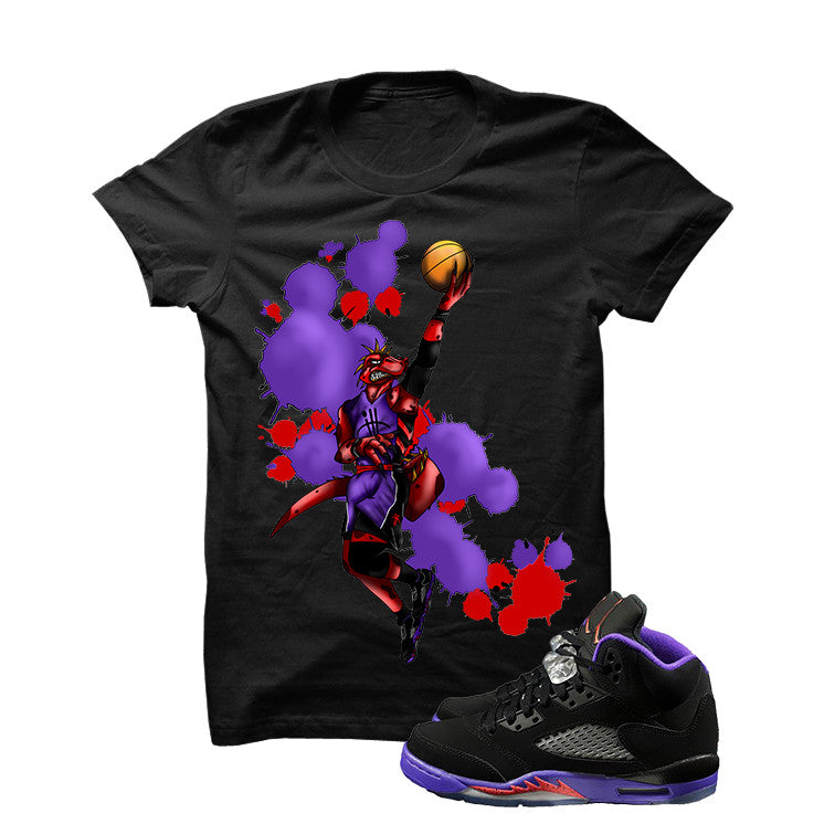 Jordan 5 Gs Raptors Black T Shirt (Basketball Raptor) - illCurrency Matching T-shirts For Sneakers and Sneaker Release Date News