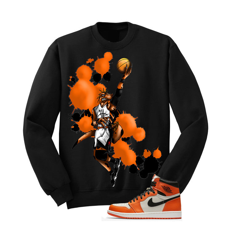 Jordan 1 Reversed Shattered Backboard Black T Shirt (Basie Raptor) - illCurrency Matching T-shirts For Sneakers and Sneaker Release Date News - 2
