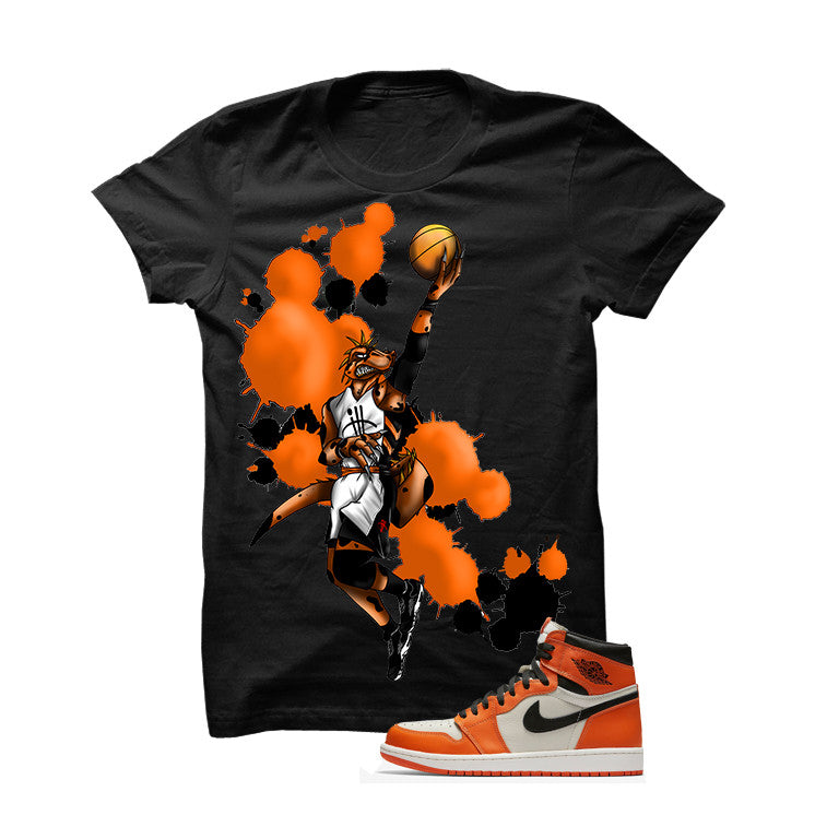Jordan 1 Reversed Shattered Backboard Black T Shirt (Basie Raptor) - illCurrency Matching T-shirts For Sneakers and Sneaker Release Date News - 1