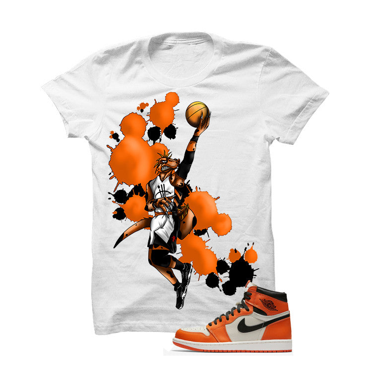 Jordan 1 Reversed Shattered Backboard White T Shirt (Basie Raptor) - illCurrency Matching T-shirts For Sneakers and Sneaker Release Date News - 1