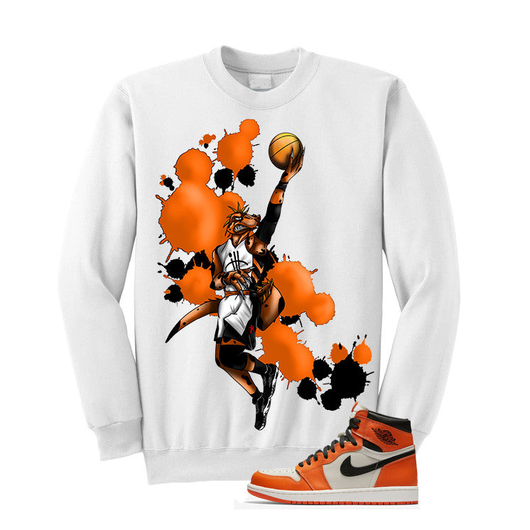 Jordan 1 Reversed Shattered Backboard White T Shirt (Basie Raptor) - illCurrency Matching T-shirts For Sneakers and Sneaker Release Date News - 2