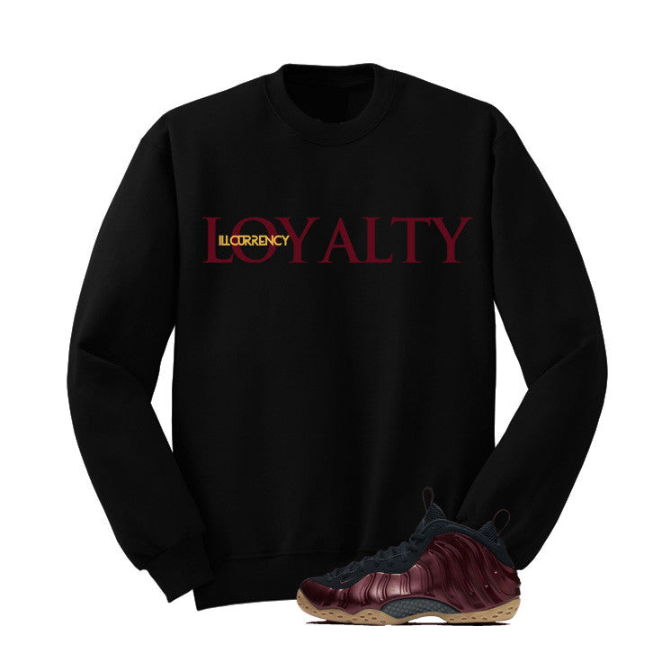 Foamposite One Maroon Black T Shirt (Loyalty) - illCurrency Matching T-shirts For Sneakers and Sneaker Release Date News - 3