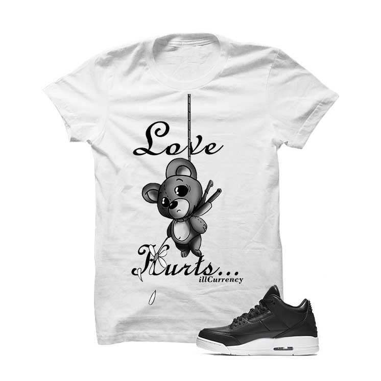 Jordan 3 Cyber Monday White T Shirt (Love Hurts) - illCurrency Matching T-shirts For Sneakers and Sneaker Release Date News