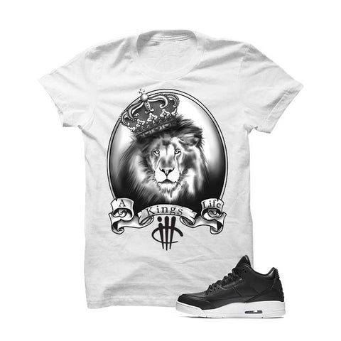 Jordan 3 Cyber Monday White T Shirt (Turtle Sword)