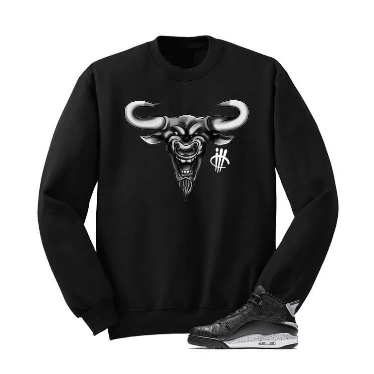 Jordan Dub Zero Oreo Black T Shirt (Bulls Head) - illCurrency Matching T-shirts For Sneakers and Sneaker Release Date News - 2