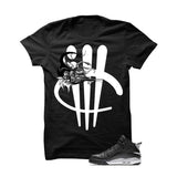 Jordan Dub Zero Oreo Black T Shirt (Turtle Sword) - illCurrency Matching T-shirts For Sneakers and Sneaker Release Date News - 1