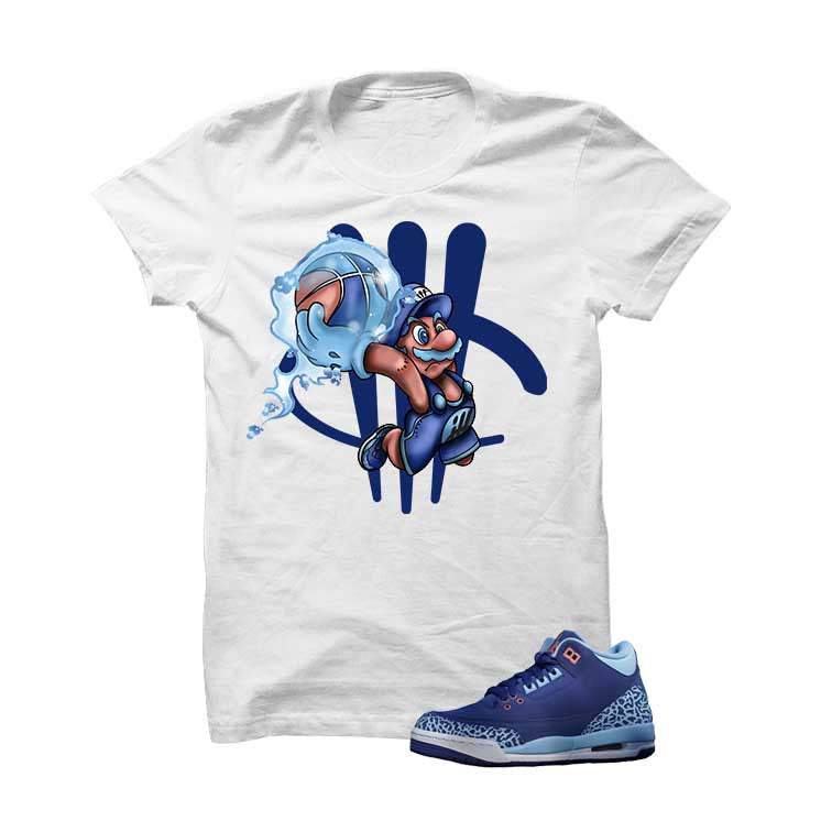 Jordan 3 Dark Purple Dust White T Shirt (Mario Ball) - illCurrency Matching T-shirts For Sneakers and Sneaker Release Date News - 1