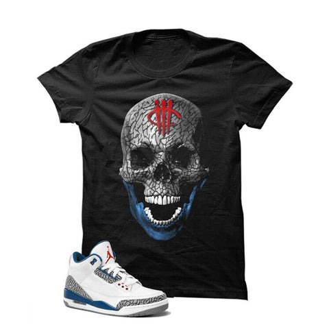 Jordan 3 Og True Blue White T Shirt (Turtle Sword Print)