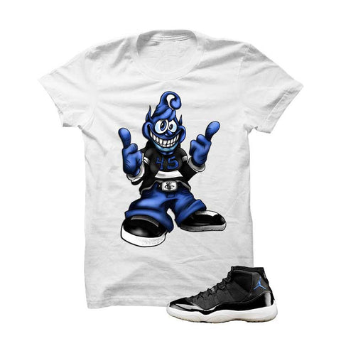 Jordan 11 Space Jam White T Shirt (Chill Alien)