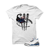 Jordan 3 Og True Blue White T Shirt (Turtle Sword Print) - illCurrency Matching T-shirts For Sneakers and Sneaker Release Date News - 1