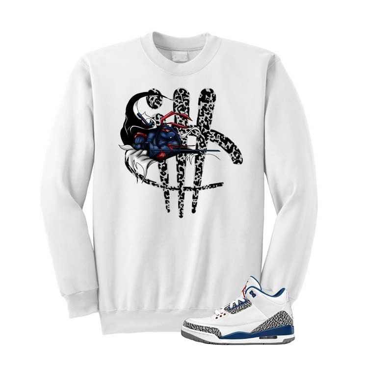 Jordan 3 Og True Blue White T Shirt (Turtle Sword Print) - illCurrency Matching T-shirts For Sneakers and Sneaker Release Date News - 2