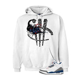 Jordan 3 Og True Blue White T Shirt (Turtle Sword Print) - illCurrency Matching T-shirts For Sneakers and Sneaker Release Date News - 3